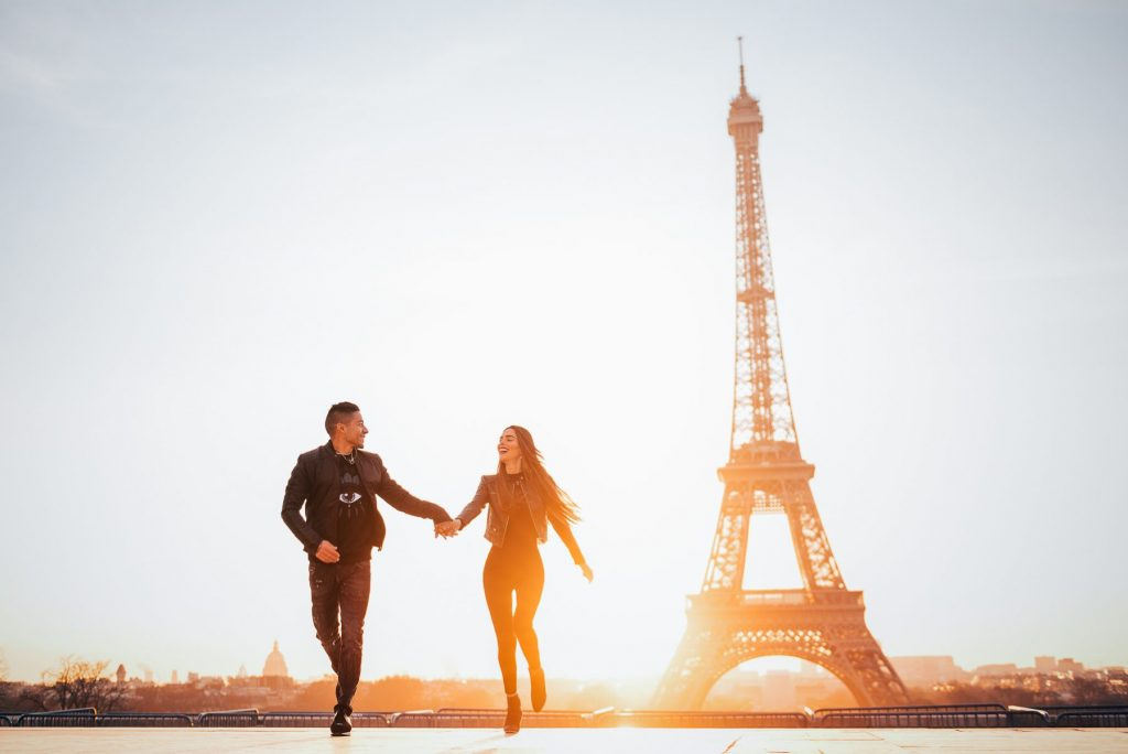 Paris Engagement photos Eiffel Tower