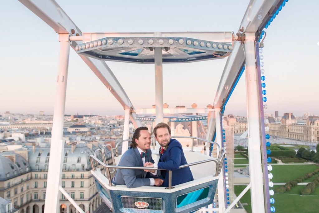 Paris photographer Paris engagement session same sex couple