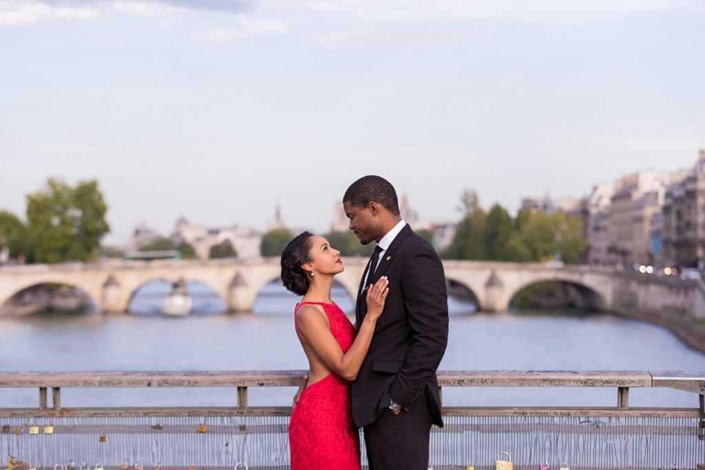 Seine River Paris Engagement Photos